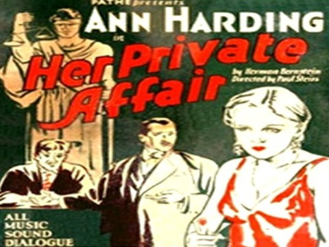 Her Private Affair (1929)